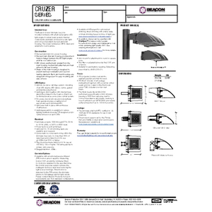 Cruzer LED Specification Sheet