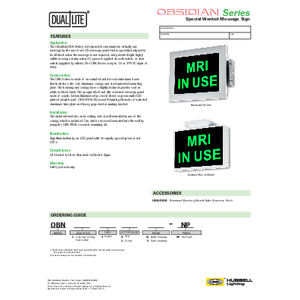 Obsidian Specification Sheet - Dual-Lite
