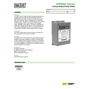 ATSD20 Specification Page
