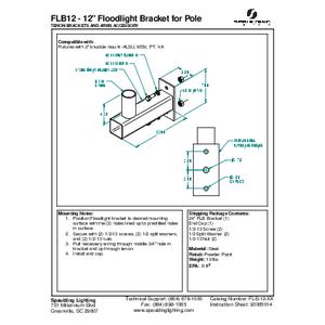 "FLB12 - 12"" Floodlight Bracket for Pole"