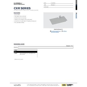 CXPBAR Specification Sheet