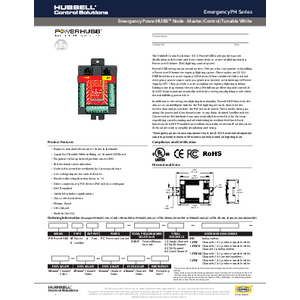 Emergency PowerHUBB Node - Master/Control/Tunable White Specification Sheet