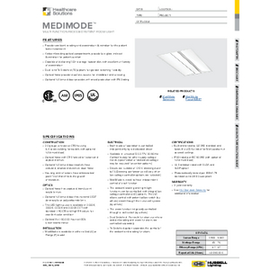 MediMode Specification Sheet