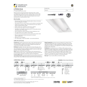 LTRX 2x4 Specification Sheet_Healthcare