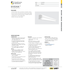 Evexia Specification Sheet