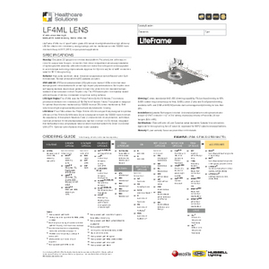LF4ML Lens Specification Sheet - Healthcare