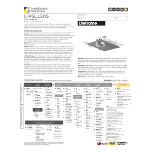 LF4SL Lens Specification Sheet - Healthcare