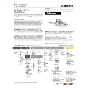 LF6ML Lens Specification Sheet - Healthcare