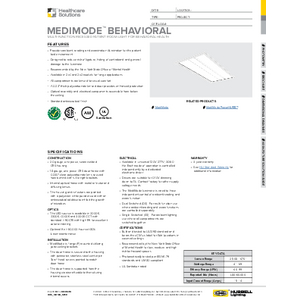 MediMode Behavioral Specification Sheet