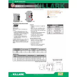 B7EP & B7EQ Series Junction Boxes Specification Sheet