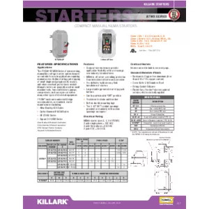 B7MSN Series Compact Manual NEMA Starters Specification Sheet