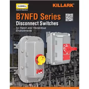 B7NFD Series Compact Nonfused Disconnect Switches Specification Sheet
