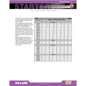 B7 SERIES_OVERLOAD HEATERS AND NON REVERSING DATA Specification Sheet