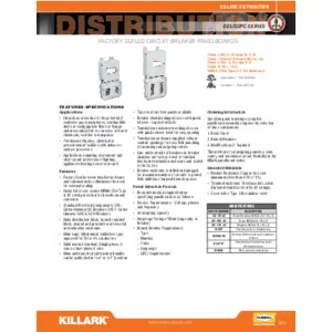 D2L & D2PC Series Factory Sealed Panelboards Specification Sheet