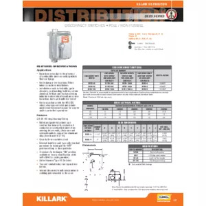 DEDS Series Disconnect Switches Specification Sheet