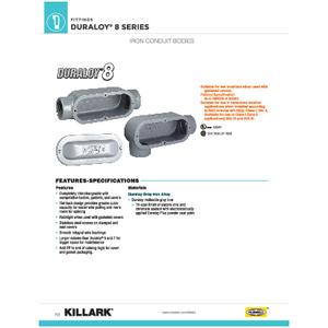 DURALOY 8 SERIES_IRON CONDUIT BODIES Specification Sheet
