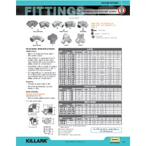 BL, FF, MF, MM, GUFS, Y, & EYMF Series Elbows Specification Sheet