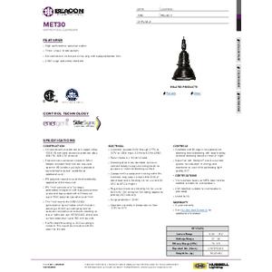MET 30 Specification Sheet