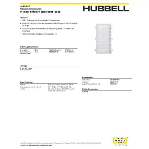 NSOBXP28B Specification Sheet