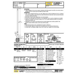 RSS-H Poles spec sheet