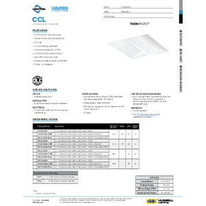 CCL Specification Sheet