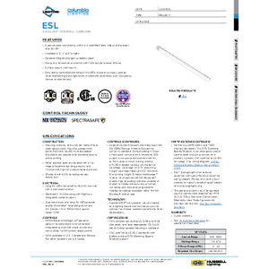 Escalate™ Specification Sheet