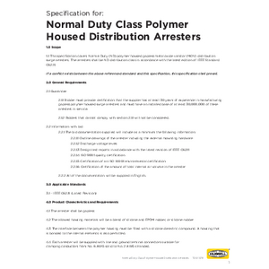 -2 Specification for IEEE Normal Duty Class Distribution Arresters (TD01078E)