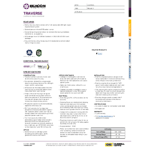 Traverse LED Turtle-Friendly Specification Sheet