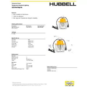 WIRING HBLLEDHB60 specsheet