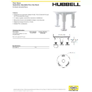 PFBSTAND Specification Sheet
