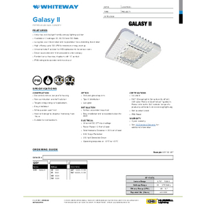 GSY - Galasy II Specification Sheet