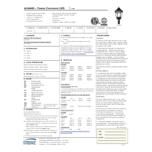 ALN 440 LED Spec Sheet