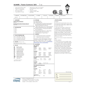 ALN 445 LED Spec Sheet