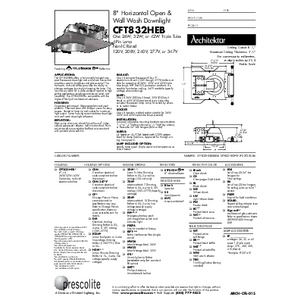 CFT832HEB Open & Wall Wash Specification Sheet