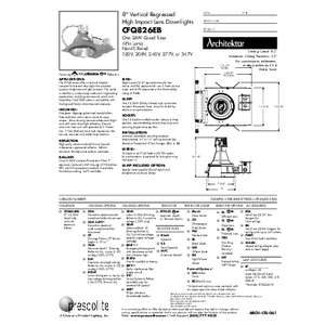 CFQ826EB Regressed Lens Specification Sheet