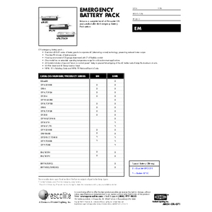 Emergency Ballast Pack Specification Sheet