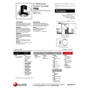 79X Specification Sheet