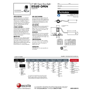 D2LED Open Specification Sheet