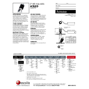 A2LED Specification Sheet