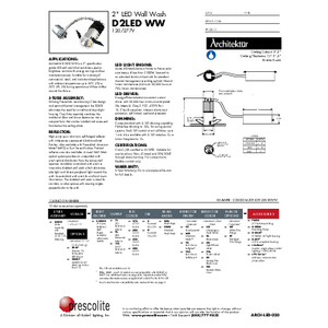 D2LED WW Specification Sheet