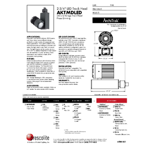 AKTMDLED Specification Sheet