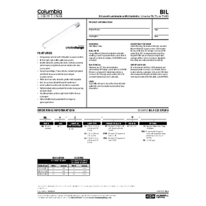 BIL Specification Sheet