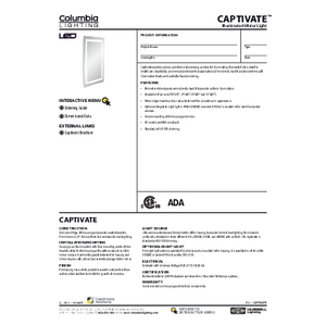 Captivate Specification Sheet (Columbia Lighting)