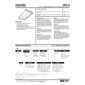 CRS-4 Specification Sheet