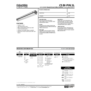CS Bi-Pin 2L Specification Sheet