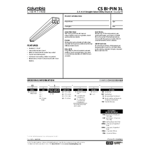 CS Bi-Pin 3L Specification Sheet