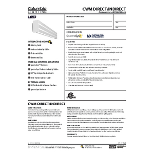 CWM Direct/Indirect Specification Sheet
