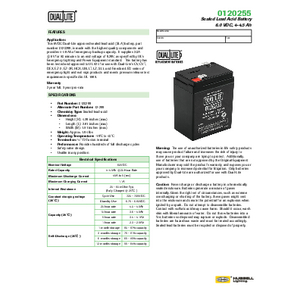 0120255 Spec Sheet
