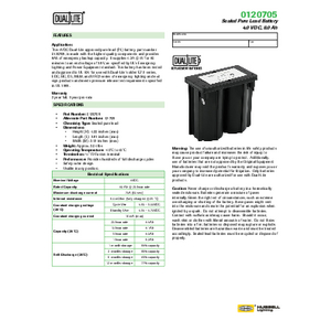 0120705 Spec Sheet