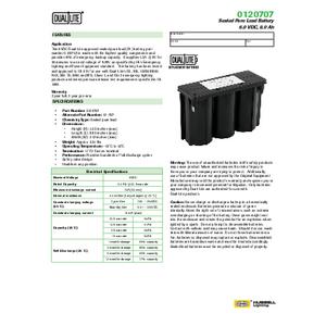 0120707 Spec Sheet